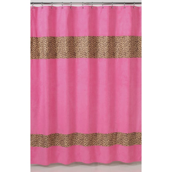 shop sweet jojo designs cheetah girl pink and brown shower curtain free shipping on orders. Black Bedroom Furniture Sets. Home Design Ideas