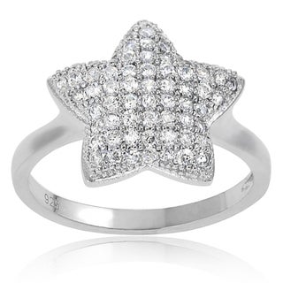Journee Collection Sterling Silver Cubic Zirconia Star Ring