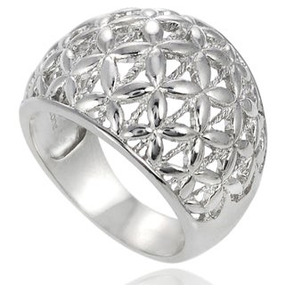 Journee Collection Sterling Silver Domed Ring