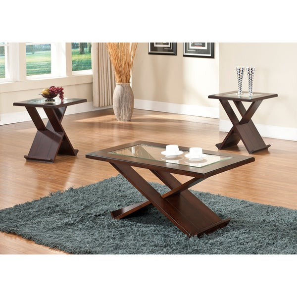 Rectangle Glass Coffee Table Set
