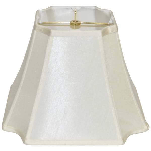 Cut Corner Off-white Silk Lamp Shade