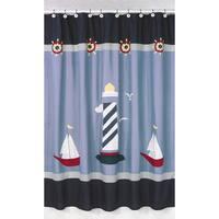Sweet Jojo Designs Come Sail Away Nautical Shower Curtain