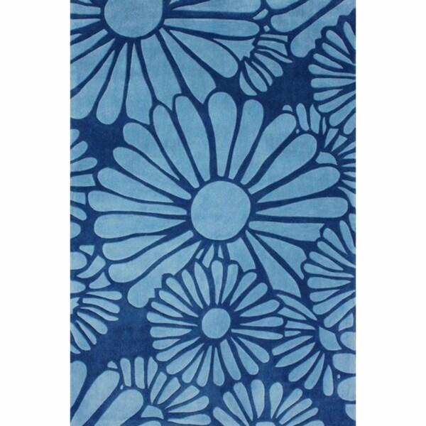 """nuLOOM Handmade Daisy Blue Rug - 8'3"""" x 11'"""