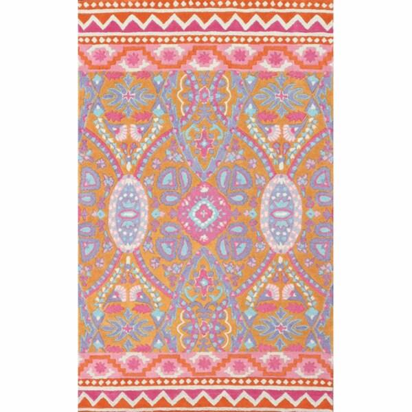 nuLOOM Handamde Vibrant Multi New Zealand Wool Rug (5' x 8')