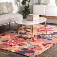 nuLOOM Handmade Carousel Floral Rug (5' x 8') - 5' x 8'