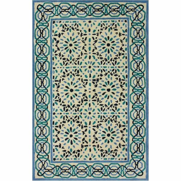 nuLOOM Handmade Ikat Multi Wool Rug (5' x 8')