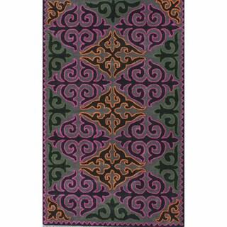 nuLOOM Handmade Spanish Tile Trellis Multi Wool Rug