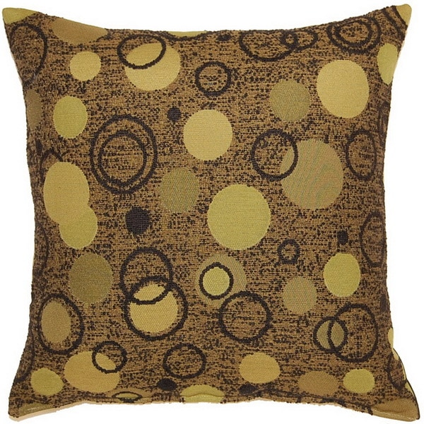 Bubbly Olive 17-inch Throw Pillows (Set of 2)