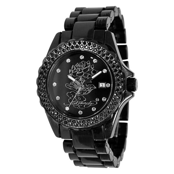 Ed Hardy Women's Acrylic Dulcet Lotus Watch