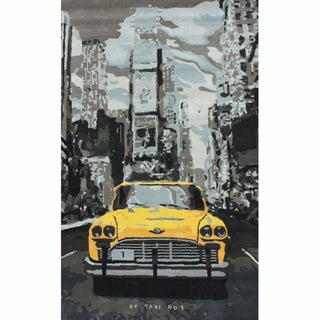 nuLOOM Handmade New York City Taxi Cab Yellow Wool Rug