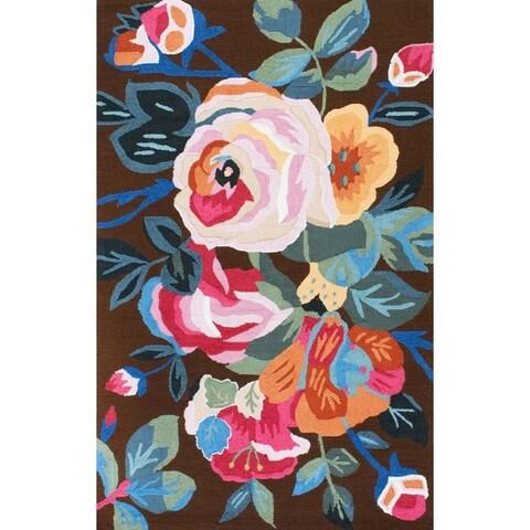 nuLOOM Handmade Floral Area Rug