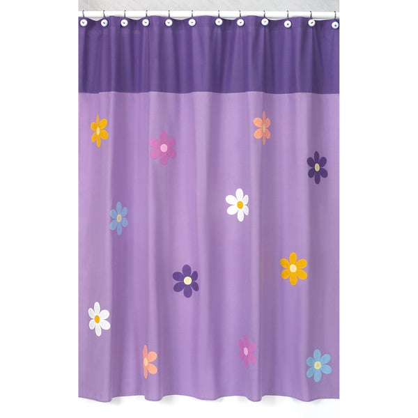 shower curtains for kids bathrooms shop sweet jojo designs danielle s daisies shower 24106