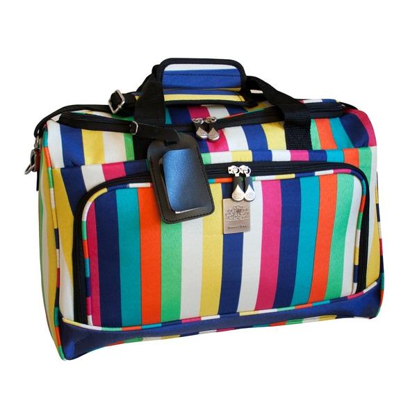 Jenni Chan Multi Stripes 18-inch Carry-on City Duffel Bag