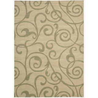 Riviera Light Gold Wool Blend Rug (3'6 x 5'6)