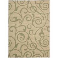 Riviera Light Gold Wool Blend Rug - 3'6 x 5'6