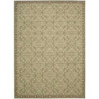 Riviera Green Wool Blend Rug (3'6 x 5'6)