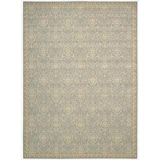 Riviera Blue Wool Blend Rug (3'6 x 5'6)
