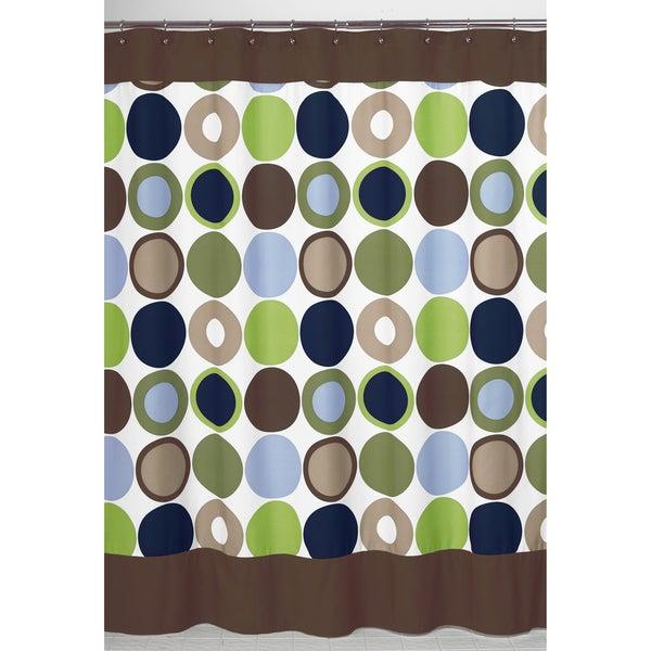 Sweet Jojo Designs Designer Dot Modern Shower Curtain