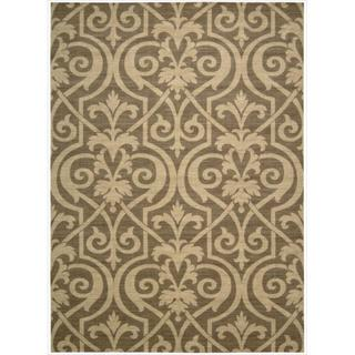 Riviera Mocha Wool Blend Rug (3'6 x 5'6)