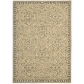 Riviera Sand Wool Blend Rug (5'3 x 7'5)
