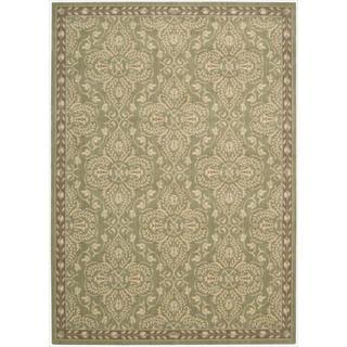 Riviera Green Wool Blend Rug (5'3 x 7'5)