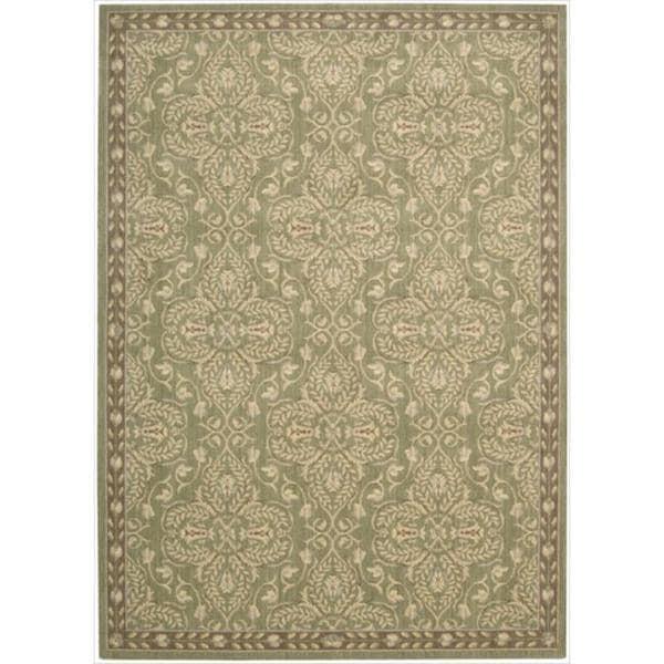 Riviera Green Wool Blend Rug (5'3 x 7'5) - 5'3 x 7'5