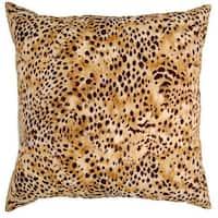 Kit Kat Amber Cheetah Print 17-inch Throw Pillows (Set of 2)