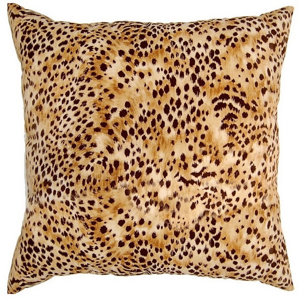 Kit Kat Amber Cheetah Print 17-inch Throw Pillows (Set of 2)