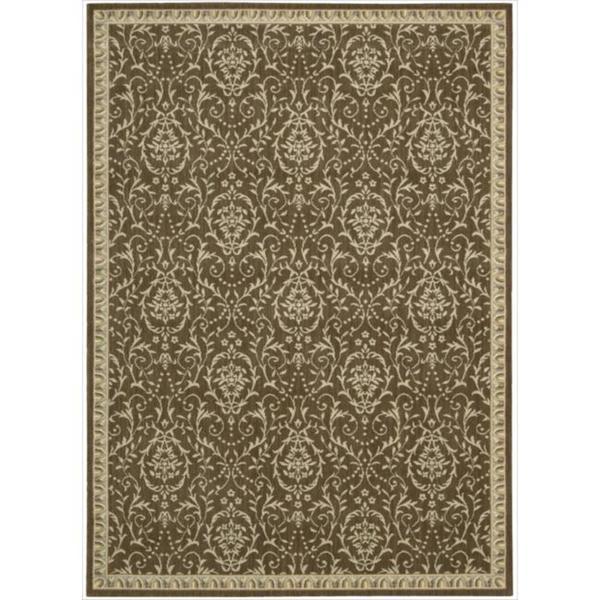Riviera Chocolate Wool Blend Rug - 5'3 x 7'5