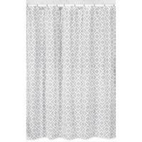 Sweet Jojo Designs Gray and White Diamond Shower Curtain