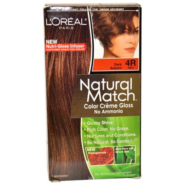 L'Oreal Natural Match Dark Auburn #4R Hair Color (1 Application)