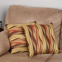 New Wave Brick 17-inch Knife-edge Throw Pillows (Set of 2)