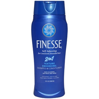 Finesse Self-Adjusting 2-in-1 Texture-Enhancing 13-ounce Shampoo and Conditioner