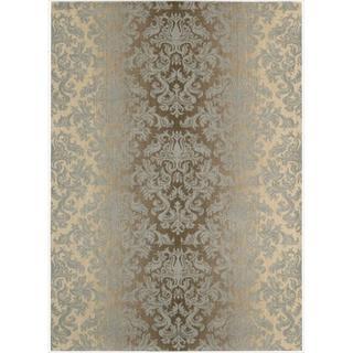 Riviera Mocha/Beige Wool Blend Rug (5'3 x 7'5)