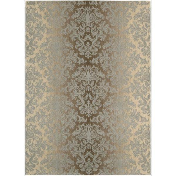Riviera Mocha/Beige Wool Blend Rug - 5'3 x 7'5