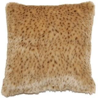 Rapier Cheetah Print Faux Fur 17-inch Throw Pillows (Set of 2)