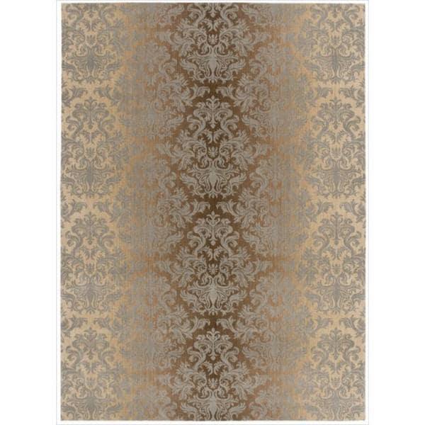 Riviera Mocha/Beige Wool Blend Rug (7'9 x 10'10)