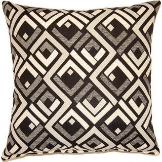 Sienna Black 17-inch Throw Pillows (Set of 2)
