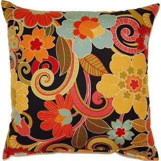 Zavalla Black 17-inch Throw Pillows (Set of 2)