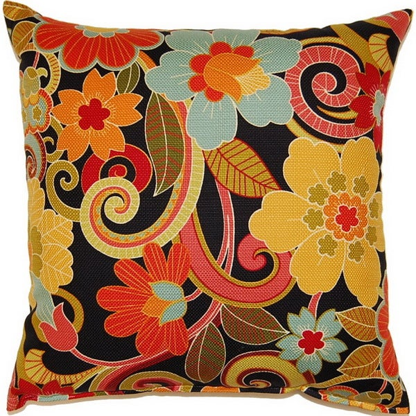 Zavalla Black 17-inch Throw Pillows (Set of 2)