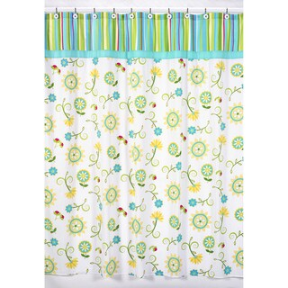 Sweet Jojo Designs Turquoise and Lime Layla Shower Curtain