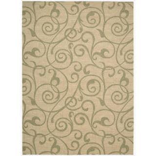 Riviera Light Gold Wool Blend Rug (7'9 x 10'10)