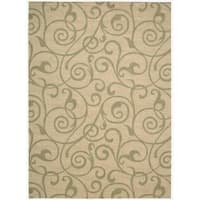 Riviera Light Gold Wool Blend Rug - 7'9 x 10'10