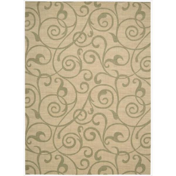 Riviera Light Gold Wool Blend Rug - 7'9 x 10'10