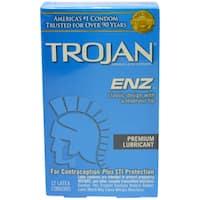 Trojan ENZ Lubricated Premium Latex Condom (12-Count)