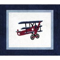 Sweet Jojo Designs Vintage Aviator Airplane Accent Floor Rug