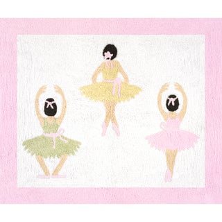 Sweet Jojo Designs Ballet Dancer Ballerina Accent Floor Rug