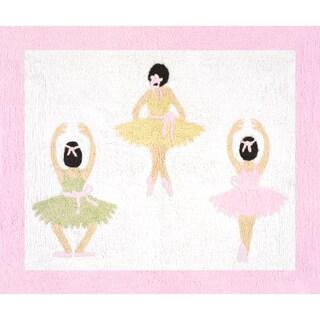 Sweet Jojo Designs Ballet Dancer Ballerina Accent Floor Rug