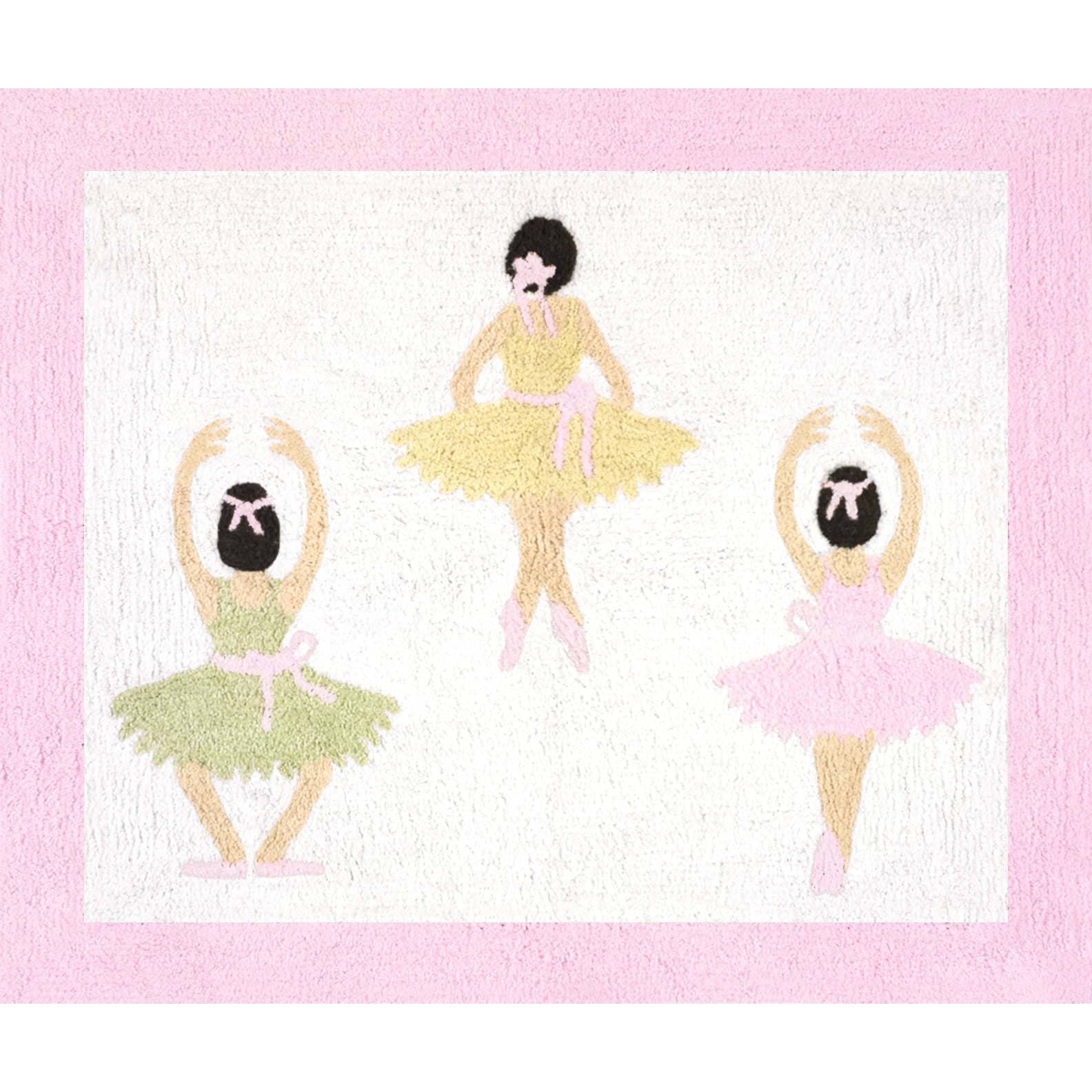 Sweet Jojo Designs Ballet Dancer Ballerina Decorative Accent Throw Pillow