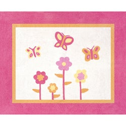 Sweet Jojo Designs Pink and Orange Butterfly Accent Floor Rug